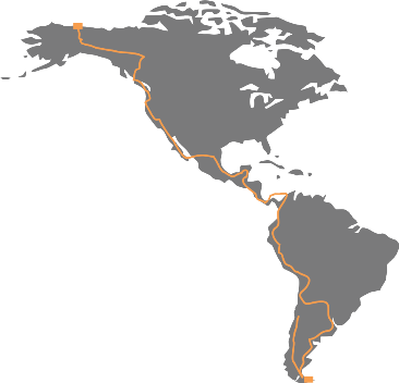 Route we will take on the Panamerican Highway